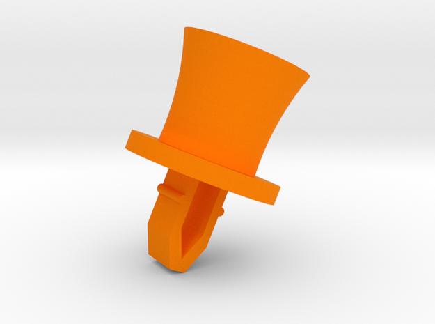 Friendly Octopus Buddy - Hat in Orange Processed Versatile Plastic