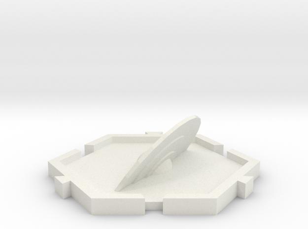 Planeta Anillado in White Natural Versatile Plastic