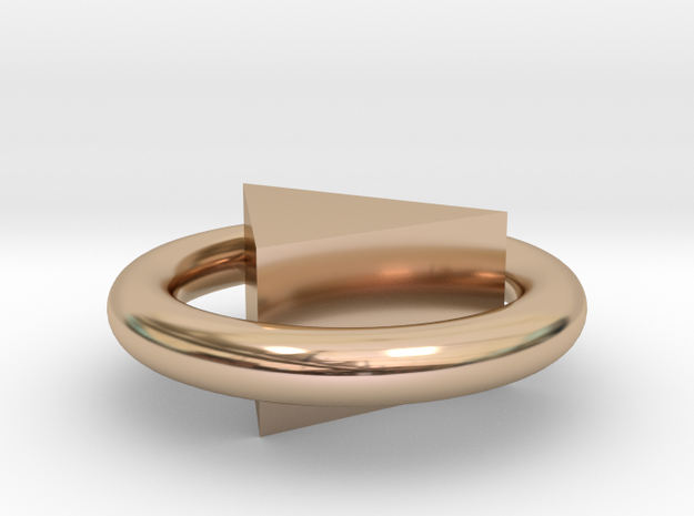 Ťriangle in 14k Rose Gold