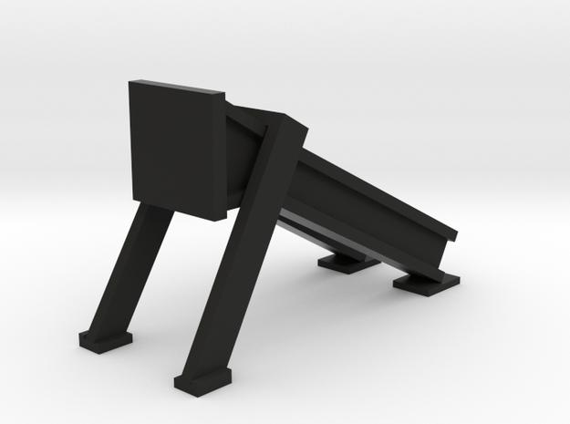 Bumper - modern HO 87:1 Scale in Black Natural Versatile Plastic