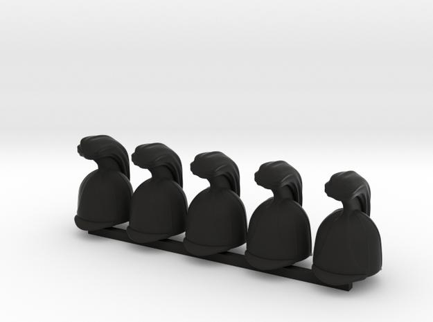 5 x Russian Cuirassier in Black Premium Versatile Plastic
