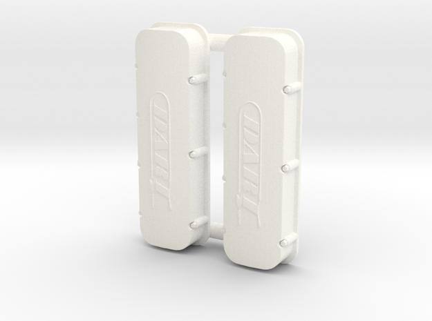 BBC Dart Valve Covers 1/18 in White Processed Versatile Plastic