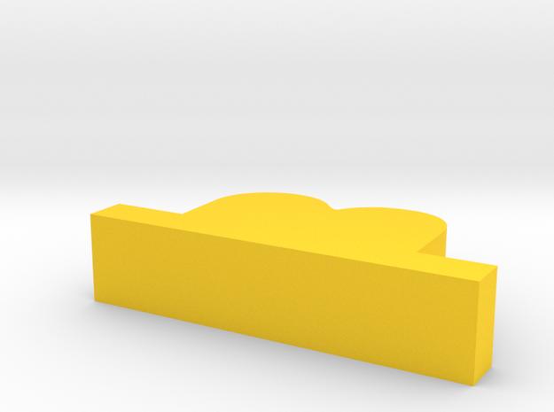 hat in Yellow Processed Versatile Plastic