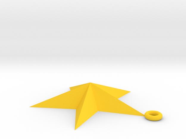 star star in Yellow Processed Versatile Plastic