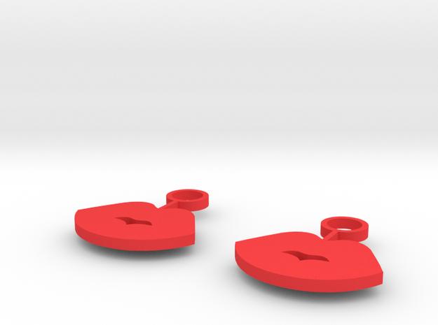 LIPS in Red Processed Versatile Plastic
