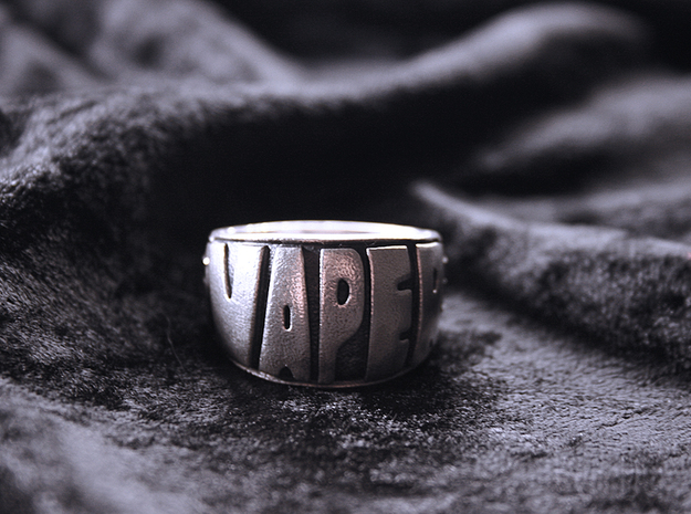 Ring Vaper size 11 1/2 in Natural Silver