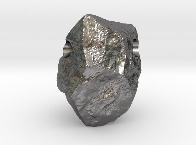 Natural Necessities Pendant Rock B in Polished Nickel Steel