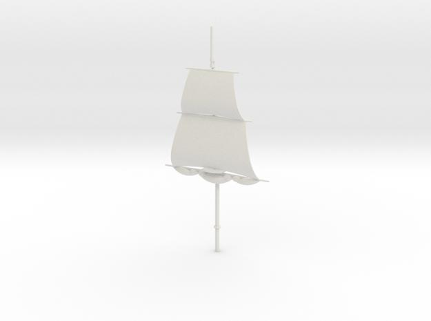 1/300 Frigate Foremast V2 in White Natural Versatile Plastic