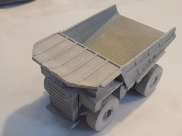 CAT 797B Mine Haul Truck 1:160 Scale 3d printed One coat of primer to smooth surface