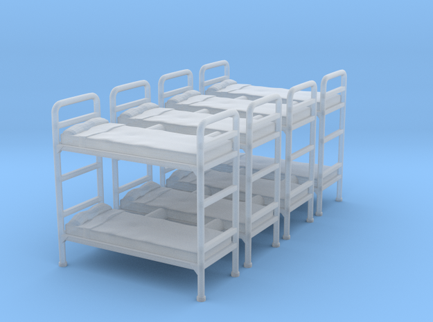 Bunk bed 01.S Scale (1:64) in Smooth Fine Detail Plastic