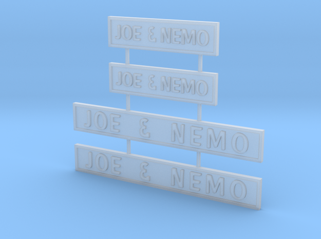 Joe Nemo signs z scale in Smooth Fine Detail Plastic