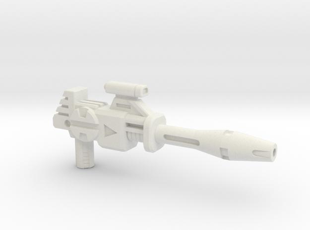 Punky Operative Blaster - Long Barrel in White Strong & Flexible