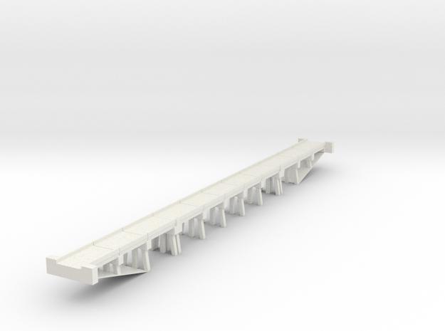 Bridge Concrete N scale in White Natural Versatile Plastic