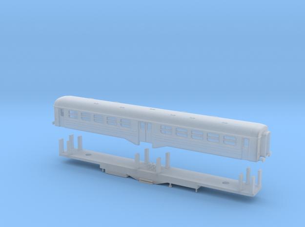 """PKP Wagon Pasazerski """"Ryflak"""" Skala Z ver. B in Smooth Fine Detail Plastic"""