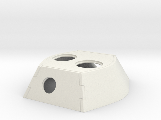 VK16.02 Leopard Turret Top in White Natural Versatile Plastic