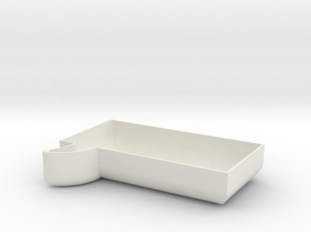 Square Chat Bubble Bowl in White Natural Versatile Plastic