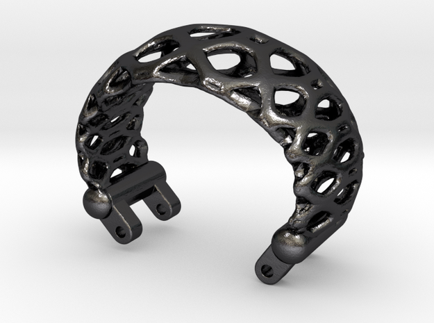Modell 80300-Voronoi-Dual-Loop-L in Polished and Bronzed Black Steel