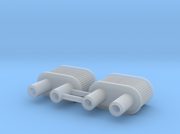 1/24 double air filter in Smooth Fine Detail Plastic