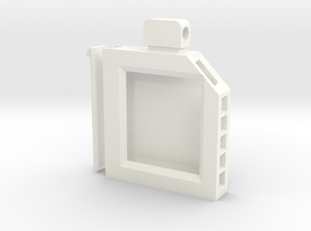 Cartridge Case in White Processed Versatile Plastic