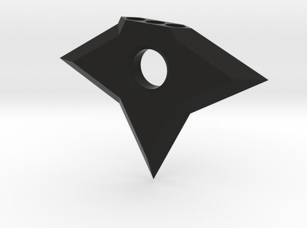 Ninja Star Magnet in Black Natural Versatile Plastic