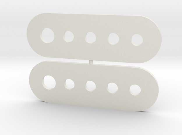 Straight Hinge in White Natural Versatile Plastic
