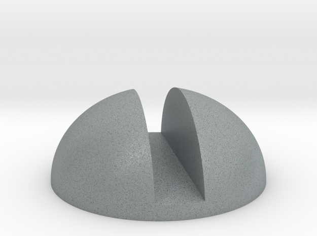 Screw Head in Polished Metallic Plastic