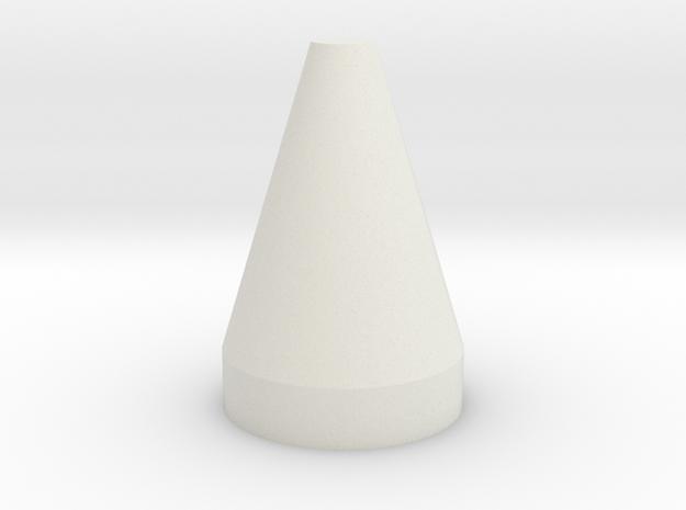 Flat Top Cone Spike in White Natural Versatile Plastic