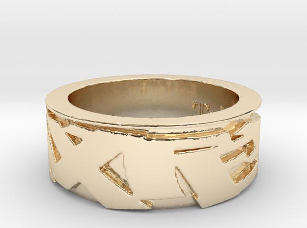 Trixter Signature Series Ring IX in 14K Yellow Gold