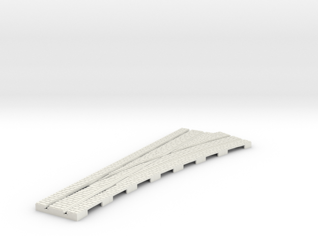 P-12stw-right-point-2r-i-1a in White Natural Versatile Plastic