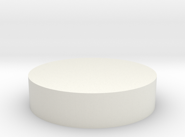Circular Tab in White Natural Versatile Plastic