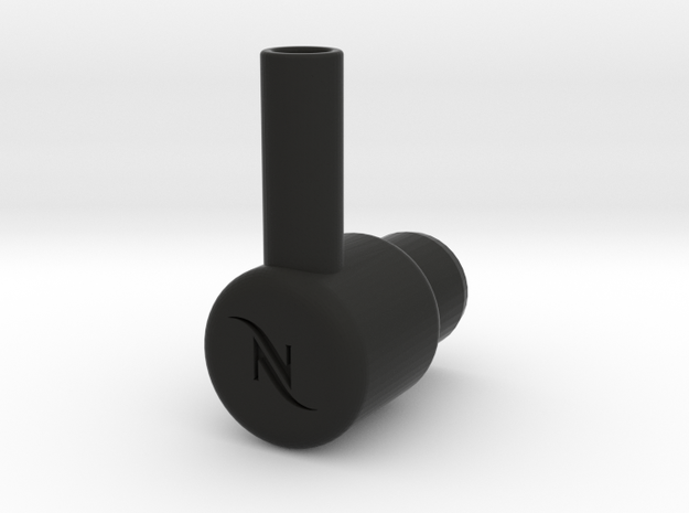 "Nespresso water tank To 3/8"" quick connect in Black Natural Versatile Plastic"