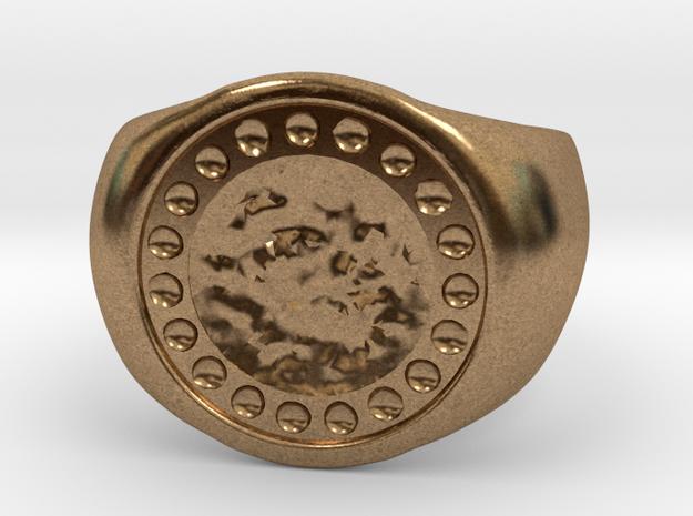 Joker's Circle Ring - Metals in Raw Brass: 7 / 54