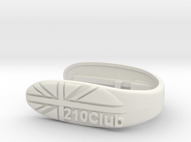 CLUB 210 UNION KEY FOB FOR MINI F MODELS in White Strong & Flexible