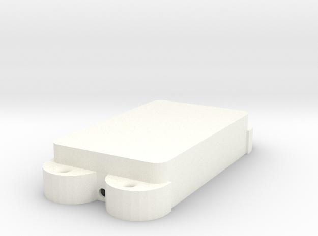 Jag PU Cover, Double, Closed in White Processed Versatile Plastic