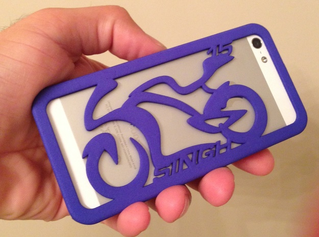 iPhone Case Sportbike Minimal Design Singh15 3d printed Actual 3D printed model from Shapeways