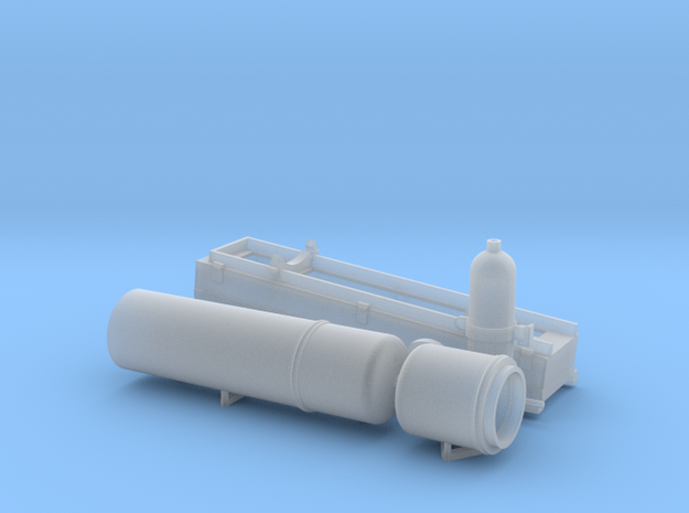 Smoke Generator, USN Style, Multi-scale in Smooth Fine Detail Plastic: 1:20