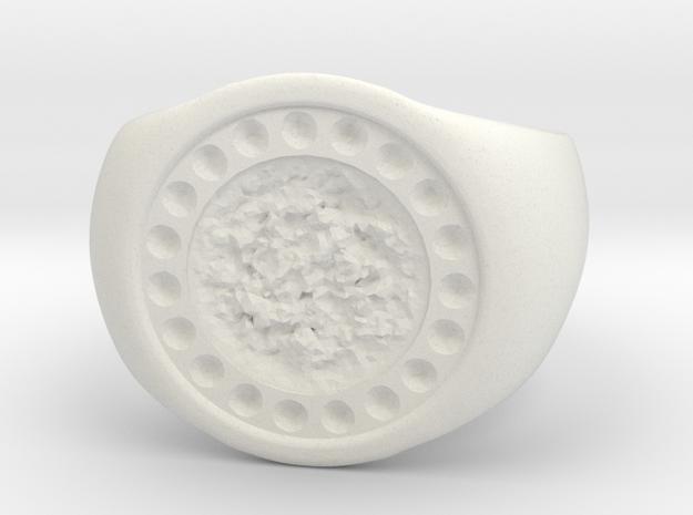 Joker's Circle Ring - Plastics in White Strong & Flexible: 7 / 54