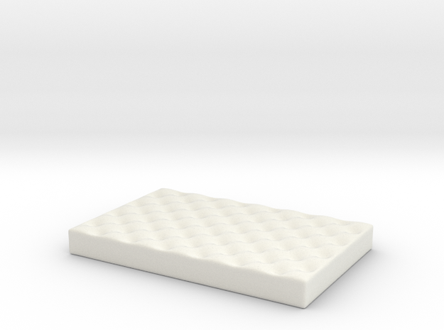 Small Dog Bed various scales in White Natural Versatile Plastic: 1:24