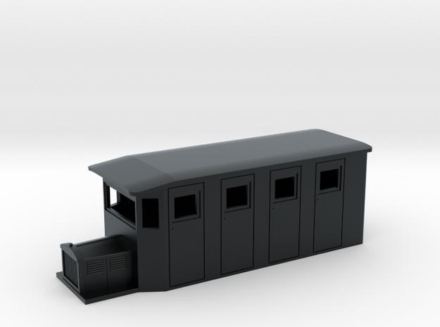 Hon30/009 SR&RL style 4w railcar in Black Hi-Def Acrylate