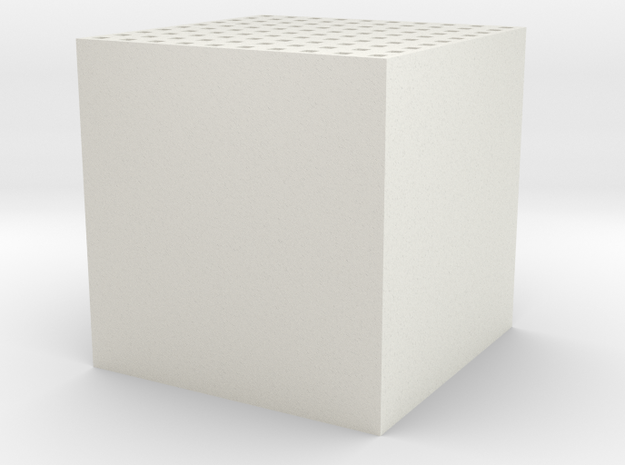 Maze 10 x 10 x 10 in White Natural Versatile Plastic