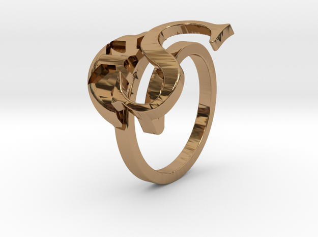 Saint Snow Twin Ring - Sarah Kazuno in Polished Brass: 4 / 46.5