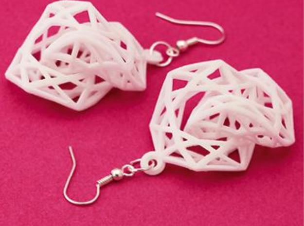 BRILLIANT TWIST - earrings 3d printed