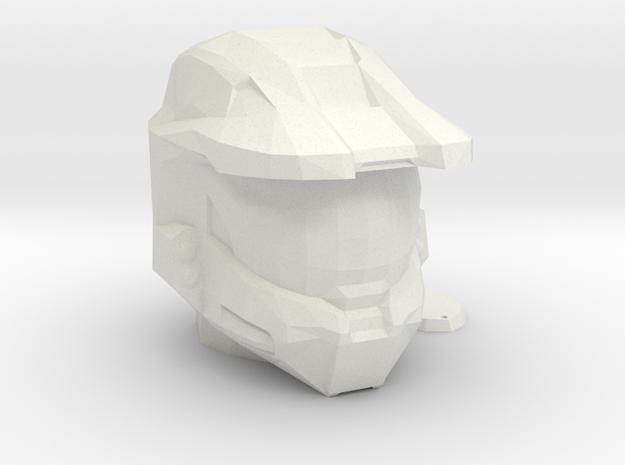 Halo Inspired Master Chief Helmet Piggy Bank in White Natural Versatile Plastic