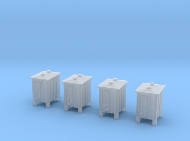 Z- scale signal relay box 4pcs in Smooth Fine Detail Plastic