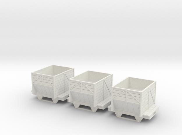 On30 Ore Car 3X in White Natural Versatile Plastic
