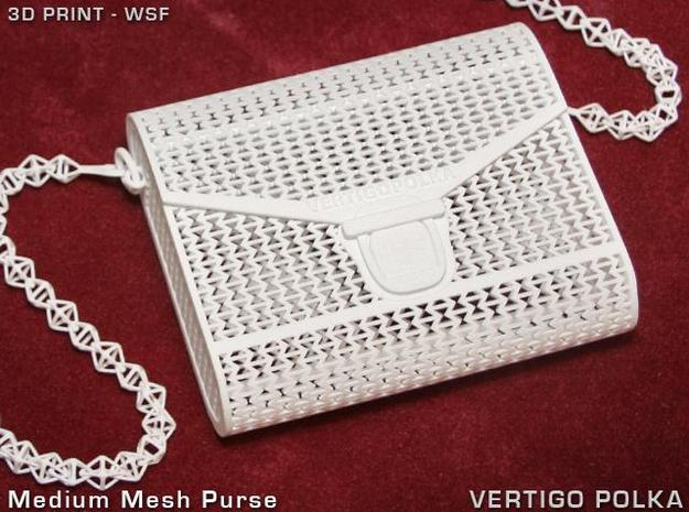 Medium Mesh Purse in White Natural Versatile Plastic