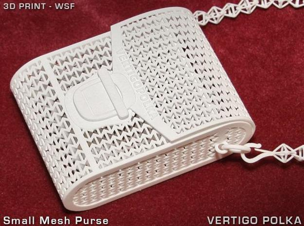 Small Mesh Purse 3d printed Small Mesh Purse w/strap (optional)