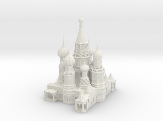 St_Basils_Cathedral (Test Acc) in White Natural Versatile Plastic
