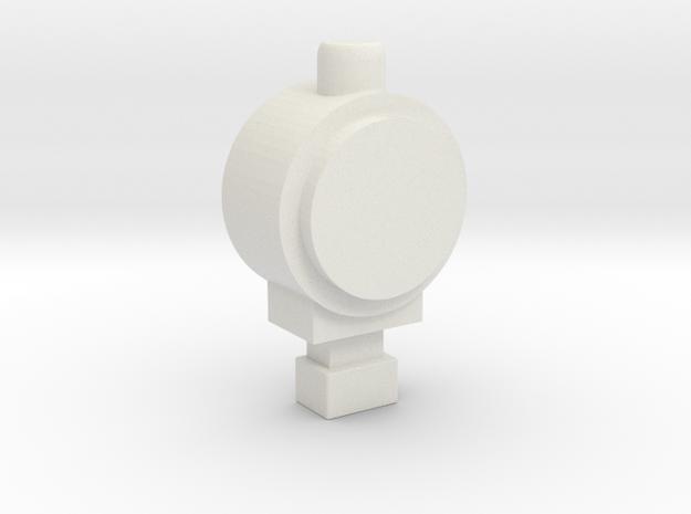 OO Back Lamp in White Natural Versatile Plastic