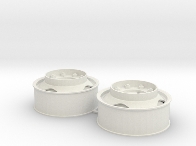 Velgen/Rims, 40x16 met driehoekgat en opstaptrede in White Natural Versatile Plastic